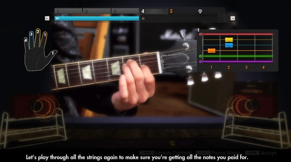 Learning to Play Bass with Rocksmith ⋆ Hear the Music Play